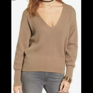 Free People Allure Pullover Ribbed Knit Sweater
